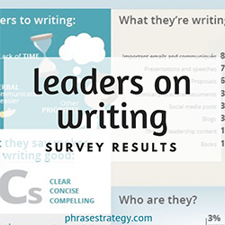 Leaders on writing: the survey