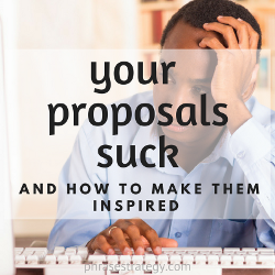 Your proposals suck