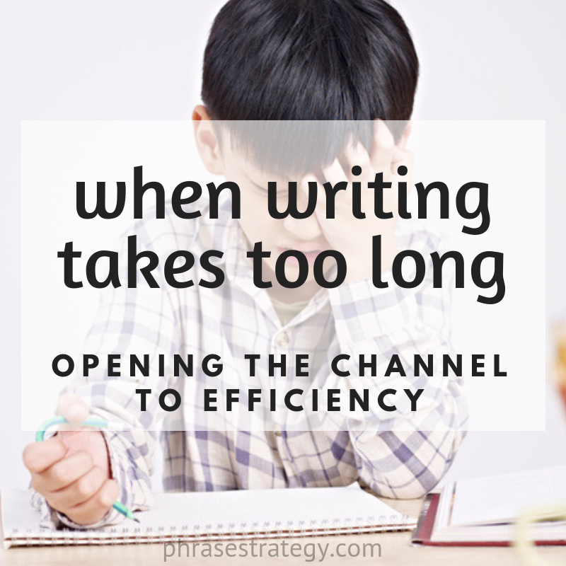 When writing takes too long