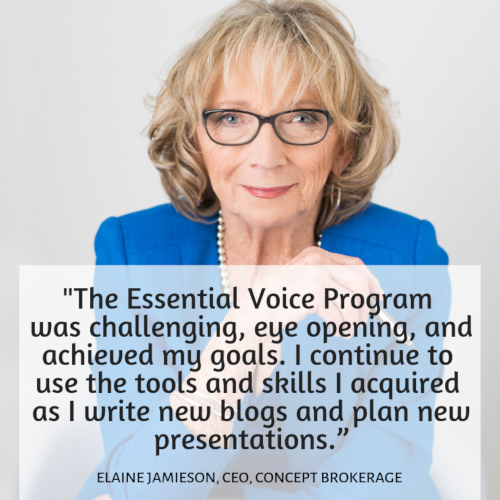 Essential Voice Program Helps CEO Connect with Clients, Partners: Elaine Jamieson