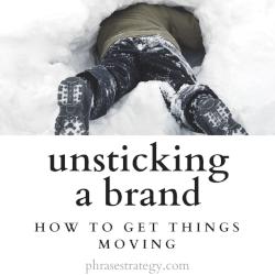 Unsticking a brand