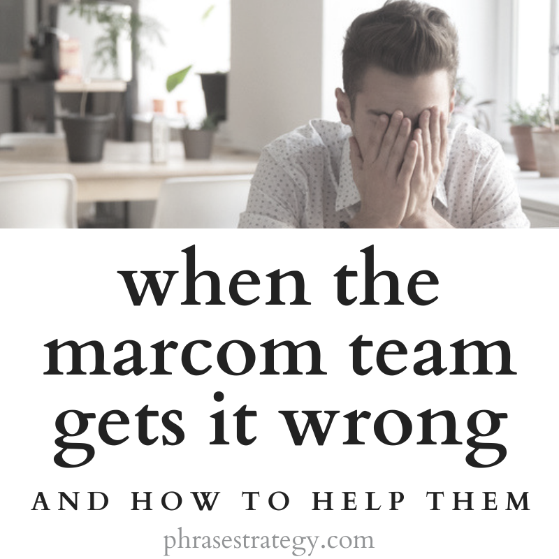 When the marcom team gets it wrong
