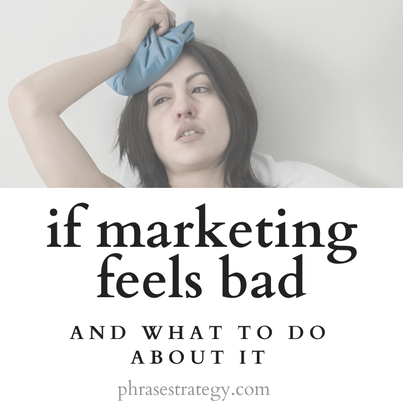 If marketing feels bad
