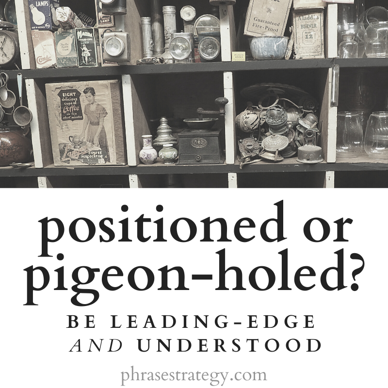 Positioned or pigeon-holed? Be leading-edge AND understood