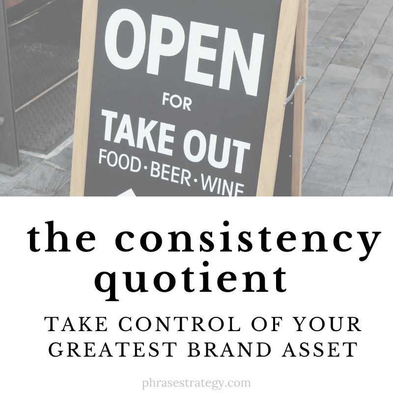 The consistency quotient: taking control of your greatest brand asset